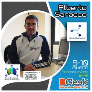 Alberto Saracco al Bgeek Bari 2018