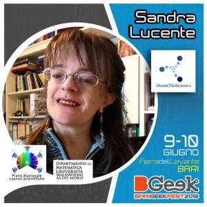 Sandra Lucente al Bgeek Bari 2018
