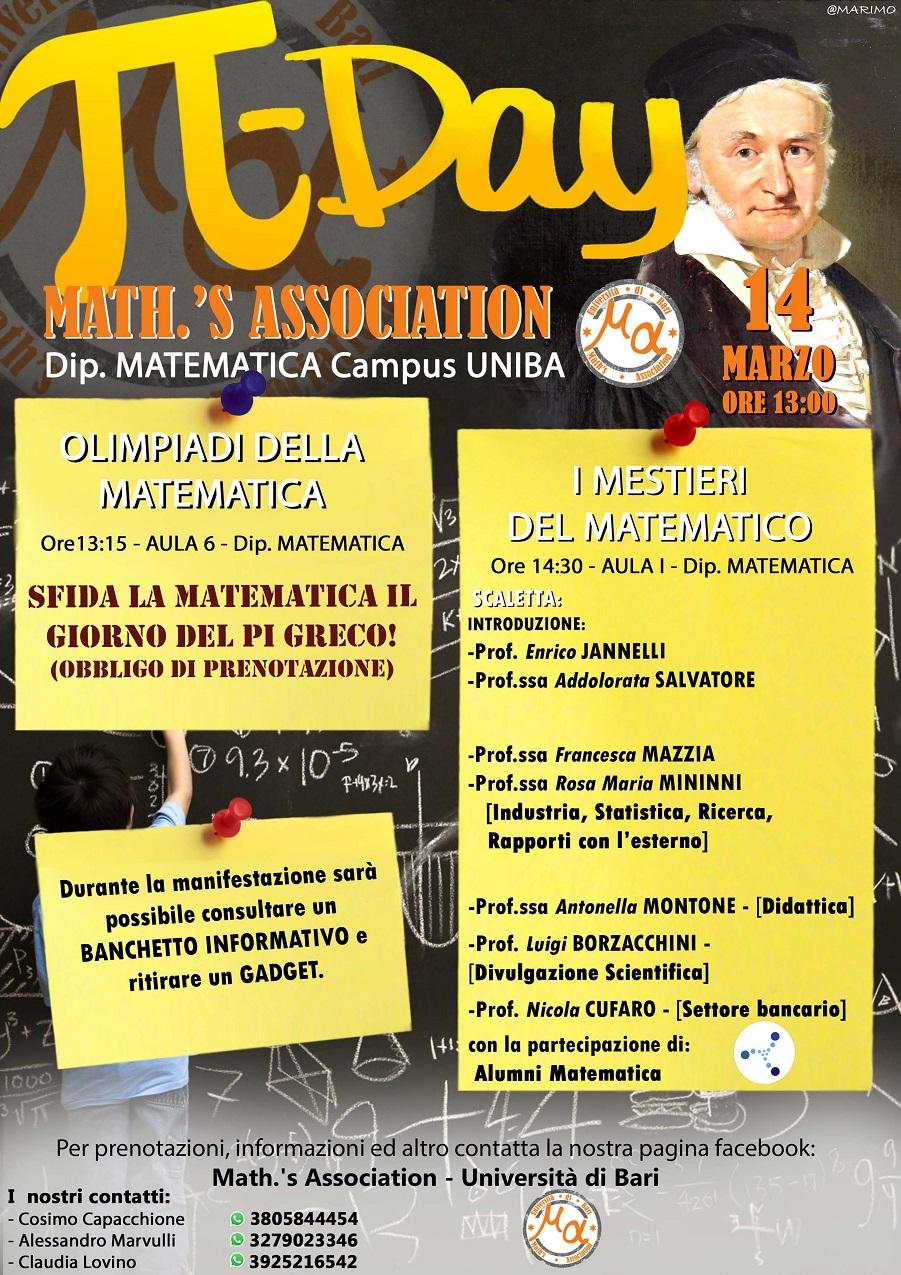 Programma dell'evento I Mestieri del Matematico