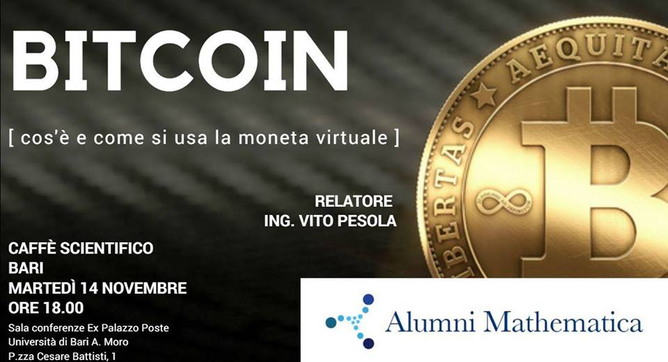 evento Bari bitcoin e blockchain