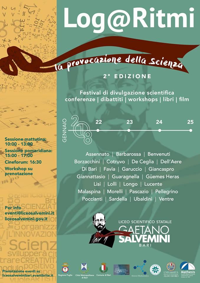 Festival della Scienza organizzato a Bari in cui partecipa Alumni Mathematica